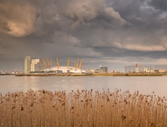 Doome? (Andrew H-W) Tags: city uk sunset london water weather thames clouds river season landscape spring time object tripod hard o2 structures places lee dome nd gran filters 06 graduated 2016 neutraldensity imagetype objectsstructures andrewhaywardwills