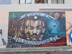 3 face il solo vincitore (en-ri) Tags: boy roses 3 guy muro face rose wall writing torino skulls graffiti piramide ragazzo volto teschi