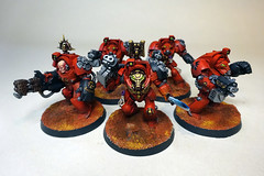 Blood Angels Terminator Squad (Bronzetooth) Tags: blood 40k angels warhammer shield terminator baal terminators deathstorm