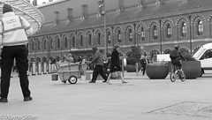 going to work (Wayne Stiller) Tags: street people building london st site construction cross kings pancras