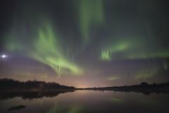 Icelandic Aurora borealis (Benedikt Halfdanarson) Tags: reflections stars iceland nightsky lakeview sland northernlights auroraborealis norurljs stjrnur