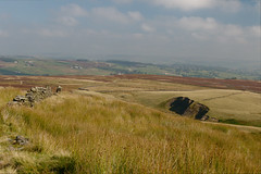 Bronte Country (Richie Rue) Tags: uk england colour landscape landscapes top yorkshire moors moor col bronte moorland haworth withens nikond300