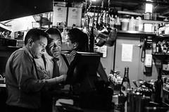 Working Together (jeffreymbhibbard) Tags: seattle city sunset food art bar restaurant harbor nikon cityscape place wine professional jeffrey mb waiter pigalle hibbard d7000 nikond7000