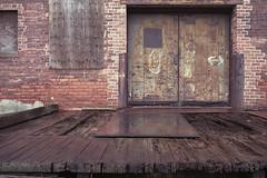 Old Warehouse (KevinCollins00) Tags: red usa brick boston america 35mm nikon fuji unitedstates superia massachusetts newengland charlestown fujifilm emergency nikonf3 asa400 expiredfilm xtra c41 filmphotography colorfilm colourfilm 135film