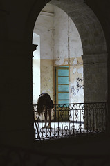 2014 (Laurene Smith) Tags: people selfportrait detail texture abandoned architecture arch indoor faceless