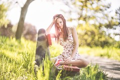 Lily (hispan.hun) Tags: red portrait woman nature girl sunshine forest canon vintage bench spring hungary sony budapest longhair fullframe redhair a7 gellrt canonfd sonyphotography sonya7 hispansphotoblog