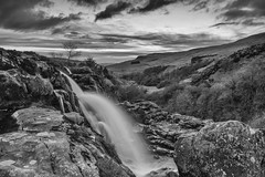 DSC_4332SE (kenimcg107341) Tags: white black monochrome clouds silver landscape waterfall nikon central d750 fintry stirlingshire 2470 pro2 effex scotrland