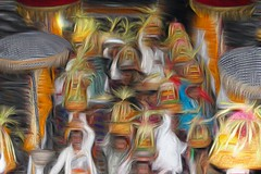 The women of Kedisan leaving the temple (scinta1) Tags: people bali white beautiful fruit umbrella leaving temple gold women village faces traditional crowd steps down offering kampung ethnic baju pura kebaya carrying traditionaldress lakebatur offerings keluarga danaubatur kintamani agama gunungbatur mountbatur upacara poleng kedisan baturbaguscottage
