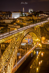 Porto by night (joao.diasfilipe) Tags: seascape portugal canon landscape fuji d x ponte porto filter lee nd luis waterscape dluis x1pro x35mm14