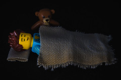 01  02 - What I did today (tyroga) Tags: sleeping roy dark toy lego teddy pillow blanket minifig sleepyhead minifigure series6 tyroga jamestroi