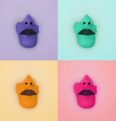 Technicolor. (Wesley Kade Strickland) Tags: pink green yellow photoshop nose milk bath purple lips bathtub technicolor