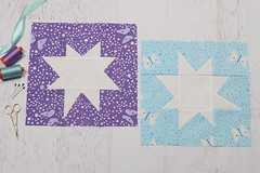 gnomeangel-do good stitches-january 2016-wonky stars (gnomeangel) Tags: blue modern purple sewing fabric improv patchwork lizzyhouse wonkystars gnomeangel