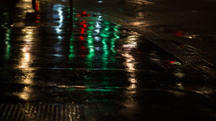 streaked (mjwpix) Tags: nighttime streaked artificiallight wetpavement ef85mmf18usm canoneos5dmarkiii michaeljohnwhite mjwpix
