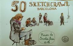 50 Sketchcrawl Barcelona (Fotero) Tags: barcelona wash usk tinta sketchcrawl cuaderno lavado estilografica urbansketchers urbansketcher cuaderno8