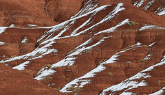 Snow Lines, Capitol Reef (Bob Palin) Tags: winter usa snow cold southwest ice water 1025fav canon landscape utah nationalpark sandstone outdoor january 100v10f capitolreef redrock 100vistas instantfave canonef24105mmf4lisusm ut24 orig:file=2016010604234