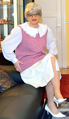 Ingrid021345 (ingrid_bach61) Tags: skirt blouse mature bluse pleated faltenrock