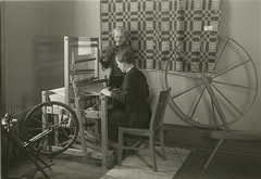 Weaving textiles. (NDSU University Archives) Tags: textile weaving ndsu homeeconomics looms ndac northdakotastateuniversity northdakotaagriculturalcollege