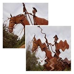 El Quijote (6) (margabel2010) Tags: metal caballo rojo arte quijote escultura dibujo marcos cobre artesana riendas personajes airelibre fantasa lanza rocinante equino yelmo escudos equinos rojooscuro colorcobrizo