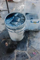 indigo vat () Tags: indigo craft melbourne workshop dye dyeing shibori sonya7  sel35f28z