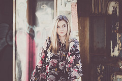 Lauren (rhn3photo) Tags: portrait people lauren floral fashion graffiti model industrial dress january longhair style blonde augusta boho matte filmic graffitiart vignettes 2016 augustaga filmlook bohochic filmemulation vignettesaugusta