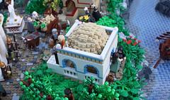 A Classical Greek Polis (Santorini House) (Simon S.) Tags: city garden greek temple oracle vineyard ancient theater lego bricks troja homer polis sheperd moc herder trireme eurobricks