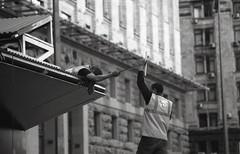 Kyiv (k0sm0s) Tags: street bw film olympus ukraine streetphoto kiev ilford zuiko kyiv om1 om1n