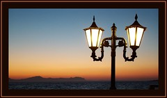 Nissiros Lamp Post (SwissMike62) Tags: light sunset greece romantic greekislands goldenhour romanticevening