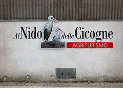 "IMG_6000 Farmhouse stork sign ""To the stork nest"" (pinktigger) Tags: italy sign italia stork friuli fagagna feagne"
