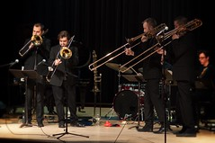 One more from Maniacal4. (backbeatb00gie) Tags: music concert stage performance event trombone quartet maniacal4