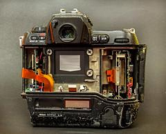 Death Of A Nikon D1 (J Wells S) Tags: stilllife broken junk indiana destroyed lawrenceburg tabletopphotography cincinnaticameraandphotographyclub nikond1camera westsidemorningmeetupgroup lawrenceburgcommunitycenter
