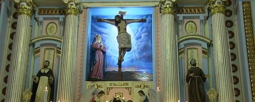 Altar Mayor, Templo del Exconvento Dominico de Sta. Catalina de Siena, Cdad. de Puebla, Pue.