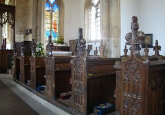 [39234] Silk Willoughby : Bench Ends (Budby) Tags: church woodwork lincolnshire pews silkwilloughby