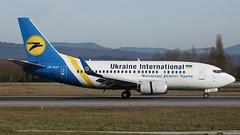 UR-GAT (Breitling Jet Team) Tags: ukraine basel international boeing flughafen bsl mlh euroairport 737528 urgat