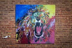 LION (colorprojectart) Tags: color art colors animal japan modern painting studio japanese tokyo paint gallery artistic modernart painted lion exhibition pop spray popart painter spraypaint artworks tomoya artstudio sprayer artistonflickr