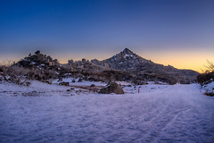 Aug 15 Snow shoe-84-222.jpg (dutchy_42) Tags: winter snow mountains canon landscape outdoors bright australia bluehour horn xcskiing tors 50d mtbuffalo