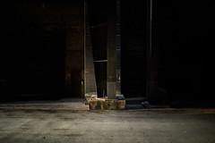 light in the dark, a door (lumofisk) Tags: light brick mystery germany dark de concrete deutschland licht europa europe outdoor 28mm right historic nrw arrow left duisburg nordrheinwestfalen dunkel beton landschaftsparknord historisch stahlwerk steelplant ziegel pfeil northrhinewestphalia geheimnisvoll 0mmf0 nikondf