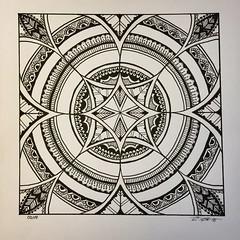 Square Mandala (marusaart) Tags: art illustration sketch artist mandala doodle ornament zen copic zentangle zendala marusaart