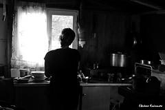 In the kitchen (Eleanna Kounoupa) Tags: sea people blackandwhite bw beach greece crete rethymnon      blackwhitephotos