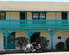 El Casa de Garcias (Prayitno / Thank you for (10 millions +) views) Tags: california ca old blue house town site san juan outdoor historic harley adobe sjc hd capistrano davidson garcias motorcyle konomark