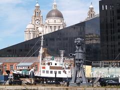 Liverpool Docks (Steve Hobson) Tags: liverpool docks three graces