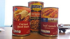 Saturday Challenge (horsepj) Tags: food beans meals indiana tamales canned bloomington hash cornedbeef baked