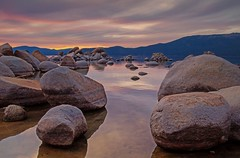 (Marc Crumpler (Ilikethenight)) Tags: trees sunset lake mountains water clouds canon landscape 24105mmf4l nevada laketahoe boulders sierras sierranevada 6d sandharbor canon6d