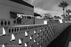 Shangri-La Boundary Wall (Thomas Gremaud) Tags: 55plus blackwhite largo community shangrila tampabay florida