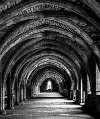Languidly into the Hall (iratebadger) Tags: abbey architecture nikon yorkshire arches fountains fountainsabbey nationaltrust d7100 nikond7100