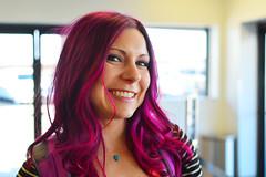 A smile from Staci (radargeek) Tags: travel sanantonio travelers purplehair humanfamily