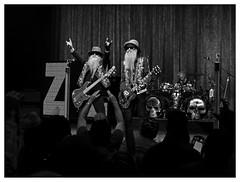 ZZ TOP (daveelmore) Tags: bw austin blackwhite concert texas rockroll austincitylimits zztop billygibbons dustyhill frankbeard moodytheater lumixleicadgsummilux25mm114