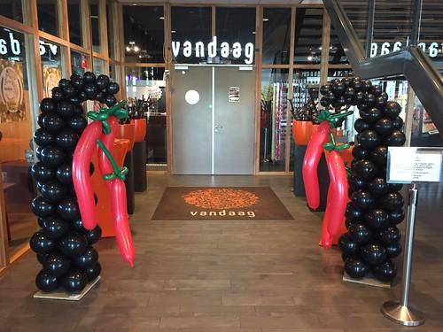 Ballonpilaar Spaanse Pepers Restaurant Vandaag Utrecht