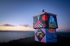 Pania on Point (ajecaldwell11) Tags: longexposure light sunset newzealand sky water clouds dusk tide ankh napier hawkesbay caldwell seawalls ahuriri pangeaseed