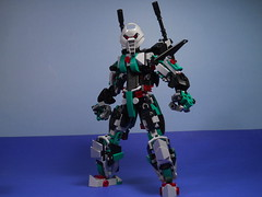 """Unit-7 """"Avalon"""" (MySnailEatsPizza) Tags: life red black green grey robot fly cool lego action jet technic figure sword rocket villain bionicle synthetic android avalon excalibur toa levitate 2016 constraction uniter"""