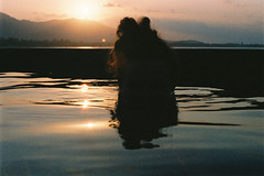 (GregoryDavenport) Tags: travel sunset film pool 35mm thailand olympus kohsamui analogue expired maenam portra escapebeach